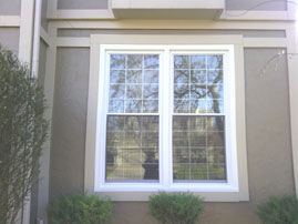 Coronet Window Company PRIMO collection double hung with colonial grids.